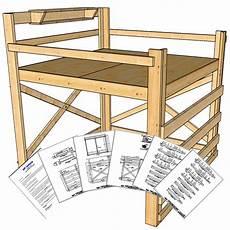 king size loft bed plans height loft bed plans