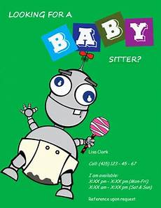How To Write An Ad For Babysitting Babysitting Flyers And Ideas 16 Free Templates Hloom
