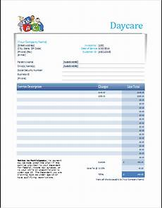 monthly receipt template daycare receipt excel template word excel templates