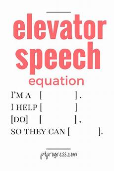 What Is Elevator Speech What Is Your 5 Second Elevator Speech