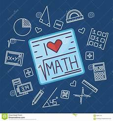 math education vector background stock vector