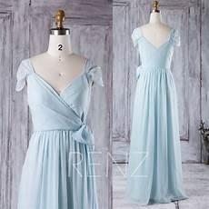 Light Blue Dress Cap Sleeves Party Dress Light Blue Bridesmaid Dress Ruched Cap Sleeves