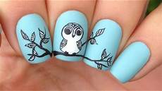 Cute Designs For Names Nail Art Tutorial Cute Tribal Owl Youtube