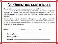 Sample Of Noc Letter From Company 10 Free Sample No Objection Certificate Templates