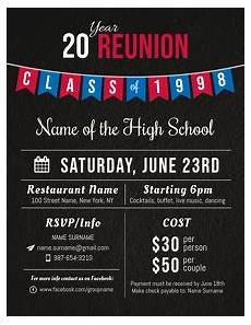 Reunion Flyer Template Create High School Reunion Flyers Online Postermywall
