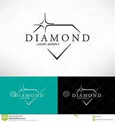 Diamond Logo Design Diamond Vector Icon Set In Line Style Logo Design Stock