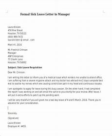 Sick Leave Note Free 8 Formal Sick Leave Letter Templates In Pdf Ms