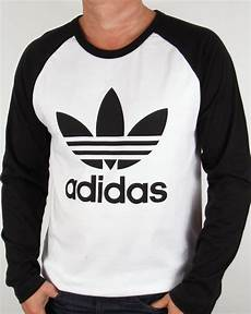 adidas originals trefoil sleeve raglan t shirt white