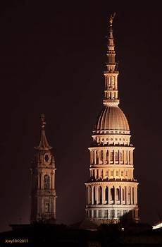 cupola novara veduta notturna della cupola di san gaudenzio a novara