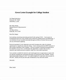 Cover Letter Examples For Students Free 8 Sample Cover Letter For Internship In Ms Word Pdf