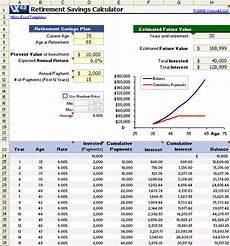 Excel Retirement Calculator Retirement Calculator Retirement Calculator In Excel