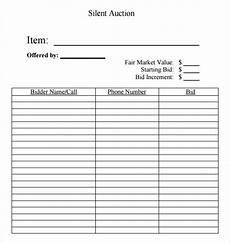 Bid Sheet Template Free Silent Auction Bid Sheet Free Silent Auction Bid Sheets