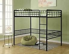 black or silver or white size metal loft bed frame