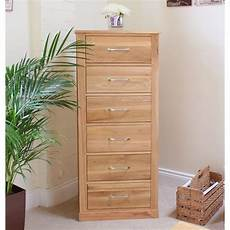 bedroom chests mobel solid oak 6 drawer chest of drawers