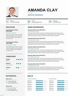 It Cv Clean Resume Cv Template Editable Downloadable Cv Word
