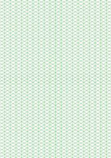 Trimetric Graph Paper Isometric 1 4 Inch Figures Graph Paper Free Download