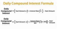 Monthly Compound Interest Formula Daily Compound Interest Formula Calculator Excel Template