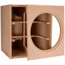 denovo audio knock mdf 4 0 cu ft subwoofer cabinet