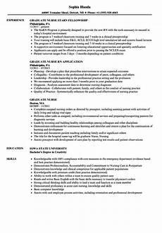 New Graduate Rn Resume Graduate Nurse Resume Samples Velvet Jobs