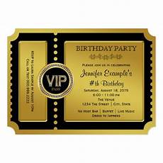 Golden Ticket Invitation Vip Golden Ticket Birthday Party Invitation Zazzle Com