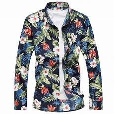sleeve hawaiian shirt autumn casual sleeve floral hawaiian shirt catchy store