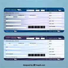 Airline Ticket Template Free Free Vector Airline Ticket Template