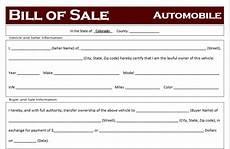 Automotive Bill Of Sale Colorado Free Colorado Car Bill Of Sale Template Off Road Freedom