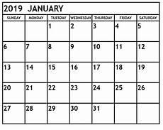 Calendar Month November 2020 Free January 2019 Printable Calendar Templates Calendar