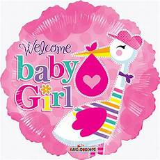 Welcome Baby Girl 18 Quot Welcome Baby Girl For Baby Shower Pink Foil Mylar