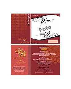 contoh undangan pernikahan warna merah contoh desain