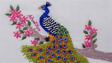 embroidery peacock bordados a mano pavo real