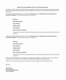 donation receipt letter template word sle donation receipt letter 7 documents in pdf word