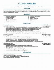 Inventory Skills Resumes Resume Examples Supervisor Good Resume Examples Resume