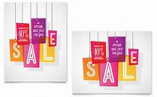 Sale Poster Ideas Clearance Tag Sale Poster Template Design