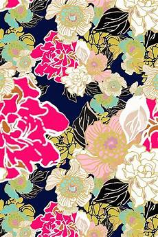 Navy Floral Iphone Wallpaper by Jungle Floral Blue Background By Joanmclemore