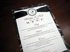 Wedding Menu Cards Menu Cards Page 2 A Vibrant Wedding