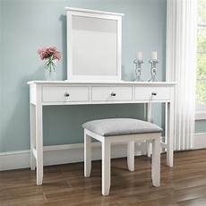 white solid wood dressing table stool furniture123