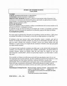 Formato De Informe Escrito R 250 Brica De Informe Escrito Cuarto