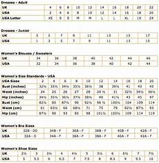 Us Women S Size Chart To Uk Uk Usa Clothing And Shoe Size Conversions Thedibb