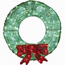 Outdoor Christmas Wreaths With Led Lights 36 Quot Led Acrylic Holiday Wreath