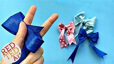 How To Fold Ribbon Double Bow Tutorial Easy Hair Bow Diy How To Make A