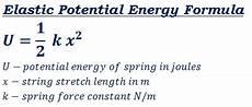 Formula For Energy Elastic Potential Energy Calculator
