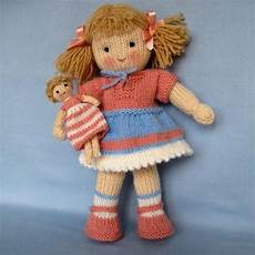 lulu knitted doll knitting pattern by dollytime