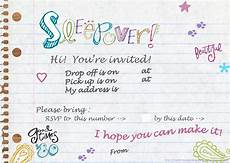 Free Printable Slumber Party Invitations Pin On For The Girls