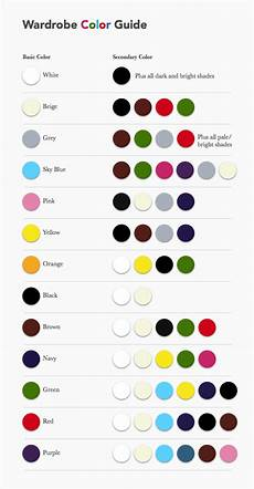 Suit Color Matching Chart Wardrobe Color Guide Color Combinations For Clothes