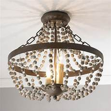 Modern Boho Pendant Lighting Rustic French Country Beaded Ceiling Light Convertible