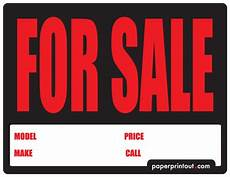 For Sale Car Sign Template Car For Sale Sign Template