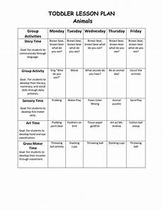 Lesson Plans For Toddlers Infant Blank Lesson Plan Sheets Toddler Lesson Plan 1