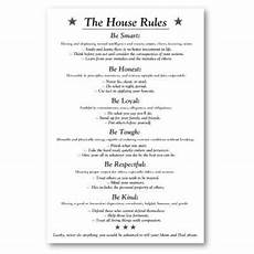 Rental House Rules Template The House Rules V3white Poster Zazzle Ca House Rules
