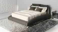 cadillac black leather platform bed by zuri furniture